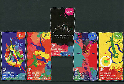 Singapore 2016 MNH SYF2016 Youth Festival 50th Art Dance Music 5v Set Stamps
