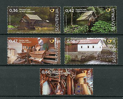 Slovenia 2016 MNH Mills 5v Set Watermills Architecture Buildings Stamps