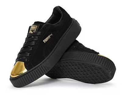 puma creepers noir bout or