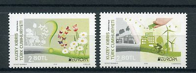 Turkish Northern Cyprus 2016 MNH Europa Think Green 2v Set Bicycles Stamps