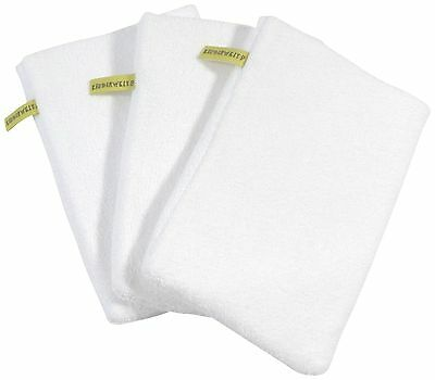 3 x Baby Kids Wash Mitt White Wash Cloths Bath Cloth
