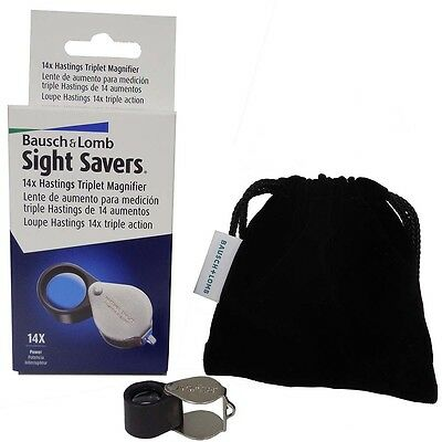 Bausch & Lomb Professional Loupe Triplet 14X Magnifier Gold Jeweler Coin Diamond