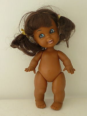 Vintage 9 inch African American Girl Doll Hong Kong Pigtails Ball Jointed Head