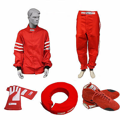 Racerdirect.net Race Suit Package Rjs Suit Gloves Shoes Collar Special Red