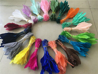 Wholesale beautiful handmade crafts DIY Goose feather 15-20cm/6-8inches 23 Colos