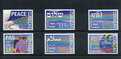 Curacao 2014 MNH Peace 6v Set Dove Shalom Pax Paix Pace Stamps