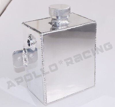 Polished Aluminum Radiator Coolant Overflow Recovery Water Tank Bottle 1.2l