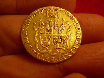 High Grade 1785 British George 111 Gold Full Shield Guinea Coin Superb Piece :)