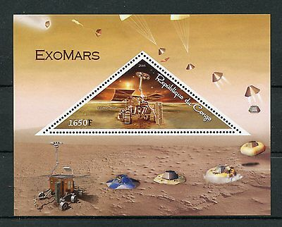 Congo 2016 MNH ExoMars Rover Mars Space Exploration 1v S/S III Stamps