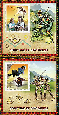 Congo 2015 MNH Scouting & Dinosaurs 2x 1v S/S Scouts Ouranosaurus Stamps