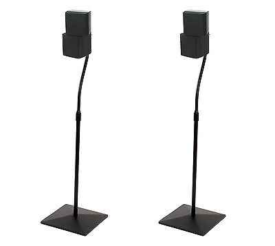 "BLOWOUT B-Tech BT11 STEALTH Adjustable Height 27""-41.7"" Universal Speaker Stands"