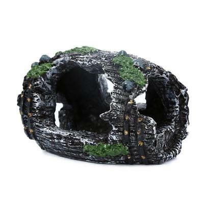 Decorazione Acquario rotto Barrel Cave per ornamento regalo resina Fish Tank