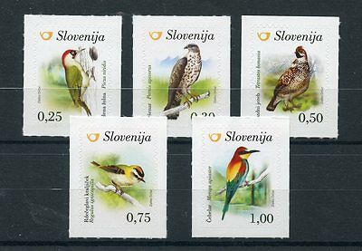 Slovenia 2016 MNH Birds 5v S/A Set Woodpeckers Buzzards Bee-Eaters Grouse Stamps