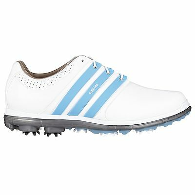 Adidas Pure 360Ltd FTWhite/LTBlue/DKsmt Golf Shoes Medium Width Q44549