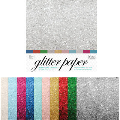 "Couture Creations Glitter Paper Pad 12""X12"" 10/Pkg  CO724575"