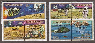 Cook Islands Sg392/9 1972 Hurricane Relief Mnh