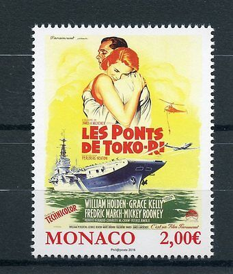 Monaco 2016 MNH Grace Kelly Movies Bridges at Toko-Ri Film Posters 1v Set Stamps