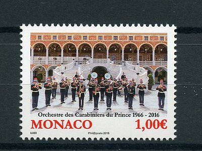Monaco 2016 MNH Orchestra of Palace Guards 1v Set Fanfare Band Music Stamps