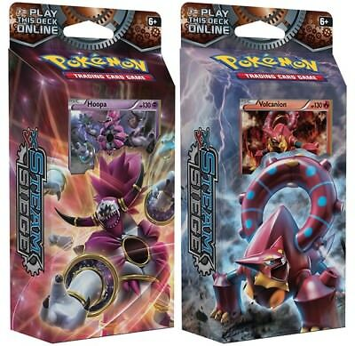 Pokemon Steam Siege 2 Decks: Ring of Lightning/Hoopa + Gears of Fire Volcanion