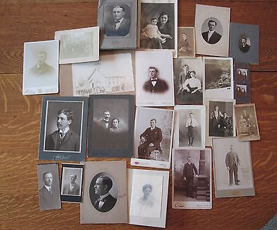 Lot Of 25 Vintage  Photographs Portraits And Postcards