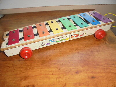 Vintage 1964-1978 Fisher Price Pull Toy Xylophone Baby Preschool Toy