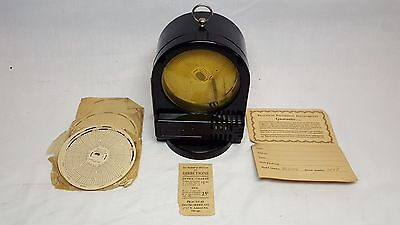 Vintage Old Steampunk Practical Temperature Recording Machine Age Thermometer !