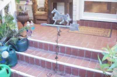 Vintage VICTORIAN ALL METAL  Horse On Stand Direction Pointer Weather Vain