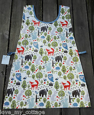 Gisela Graham Childs Forest Friends Owl Fox PVC Wipe Clean Tabard Apron Age 3-7