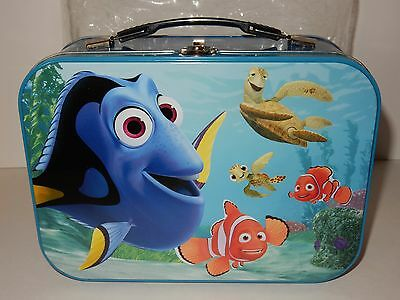"Disney Pixar Finding Nemo w/Dory & Pals 10"" x 7""  Tin Tote / Lunch Box"