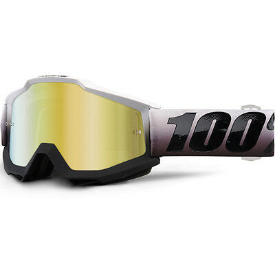 100% Percent Mx NEW Accuri Invaders Dirt Bike Gold Tinted Motocross Goggles