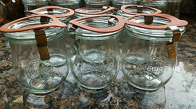 RUNDRAND Weck 60 Tulip Jelly Jar SET of 6 SHIPS IN 1 DAY