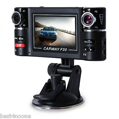 Dual Lens Car Vehicle 1080P HD Dash Camera DVR Cam 8 Night Vision Recorder 2.7""