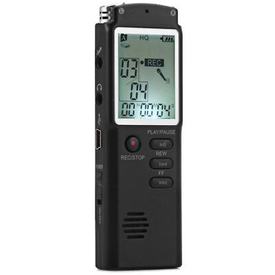 T60 2 in 1 Rechargable 8GB LCD Display Digital Voice Recorder Pocket MP3 Player