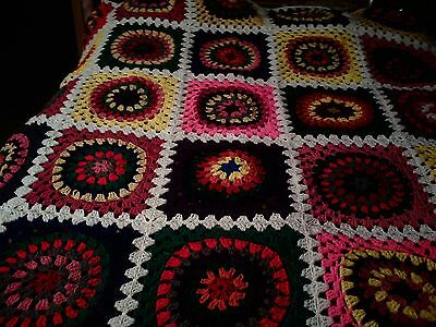 "King/queen Size Crochet Blanket New 100 Long 90""  Wide Many Colors"