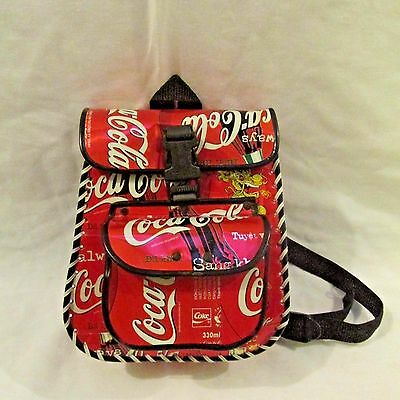 Collectible Handmade Coca-Cola Back Pack Bag - Coke