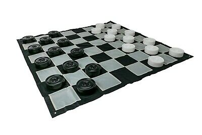Giant Size Outdoor Draughts Checkers Game Set 3 X 3M