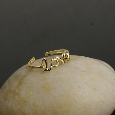 New Fashion Toe Ring Celebrity Love Open Adjustable Beach Jewelry Gold