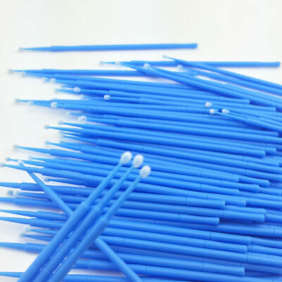 400 Pcs Dental Disposable Applicator Micro Brush Tips Regular Blue MA-100 2.5mm