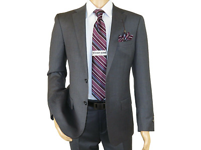 Men's Soft Wool Cashmere Charcoal Gray Business Suit 2Button Giorgio Cosani 900