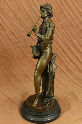 French Bronze Military Statue of a Drummer in Napoleon's Army Sculpture