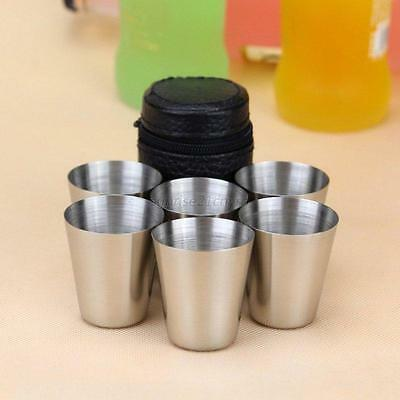 1 Set of 4PCS/6PCS Tea Coffee Cups Mugs Stainless + Bag Travel Set Espresso Beer