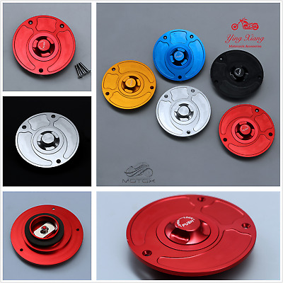 CNC Keyless Fuel Gas Tank Cap fit for Honda Yamaha Kawasaki Suzuki Motorcycle