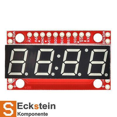 SparkFun 7-Segment Serial Display - Blue - with ATMega328 MCU COM-11442
