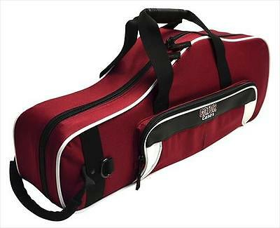 Gator GL-ALTOSAX-WM Lightweight Alto Sax Gig Bag Case White Maroon **NEW**
