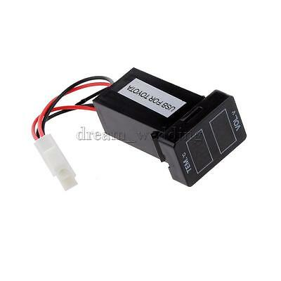 1Pcs Auto Batterie Spannung Monitor Voltmeter Thermometer Digital Anzeige
