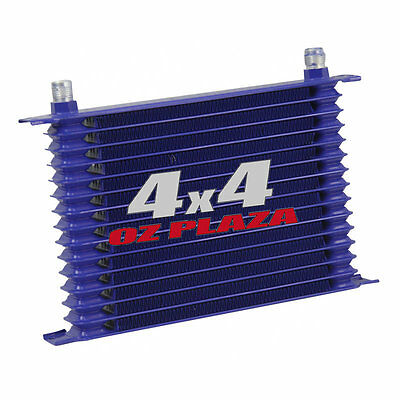 Aluminum Engine/transmission Racing 15-Row Blue Oil Cooler 10An Powder-Coated