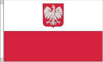 Poland Crest 3ft x2ft (90cm x 60cm) Flag