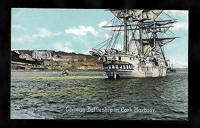 C1910 View of a German Warship in Cork Harbour, Eire