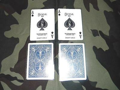 2 Each Desert Shield Original Authentic Ace Of Spades Death Cards 1 Day Shipping