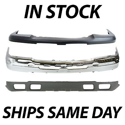 NEW Complete Steel Front Bumper Kit for 2003-2007 Silverado & Avalanche with Fog